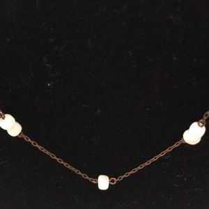 Jewelry - Vintage Delicate Necklace w/ Mother of Pearl Beads